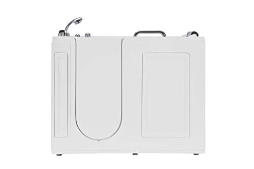 """Empava 53"""" Acrylic Whirlpool Walk-in Tub Water Jets Alcove Bathtub with Left Side Door Model 2021"""