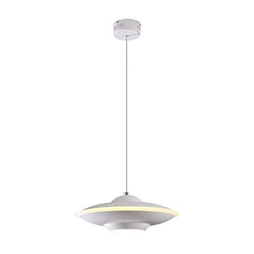 Nordeuropa LED verstelbare kleur Iron Art kandelaar ideeën voor persoonlijkheid UFO moderne hanglamp eenvoudig kinderkamer thema-plafondlamp diameter - 40 cm (kleur: wit)