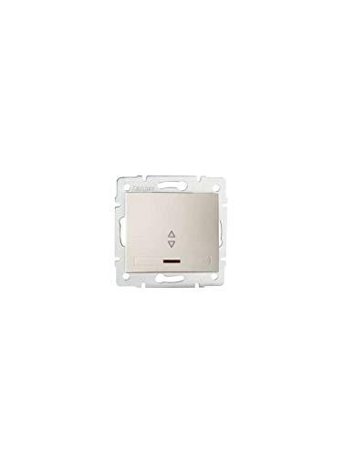 Interruptor empotrable con indicador DOMO, color crema