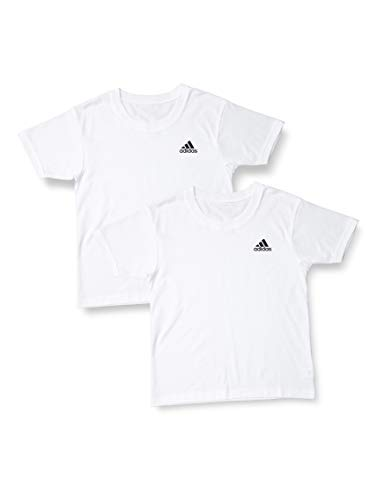 アディダス クーポン対象商品 半袖 Tシャツ インナー キッズ ジュニア 男の子 2枚セット ワンポイントロゴ 男児 メンズ クーポンコード:5FK84MJ