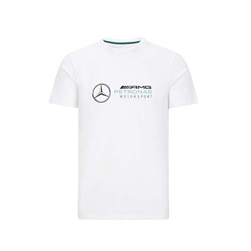 Mercedes-AMG Petronas Herren T-Shirt mit großem Logo, Herren, F1 - Großes Logo T-Shirt, weiß, Large