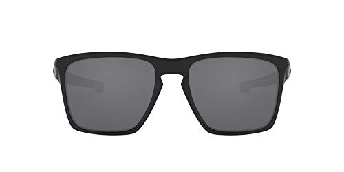 Oakley Men's OO9341 Sliver XL Sunglasses, Polished Black/Black Iridium, 57 mm