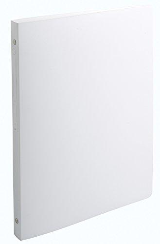 Exacompta Polypropylene ring binders, Plain White - Carpeta de cartón (Plain White, Blanco, A4, 1,5 cm)