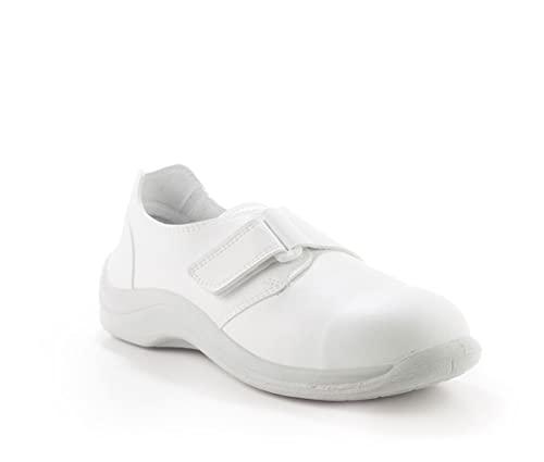 Codeor MYVSB.47 MyCodeor Velcro Safety S2 - Zapato de seguridad profesional, color blanco, talla 47