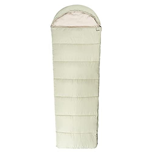 Saco de Dormir Rectangular Compacto Ligero Resistente al Agua Equipo de Camping Senderismo Viajes y Actividades al Aire Libre,Verde