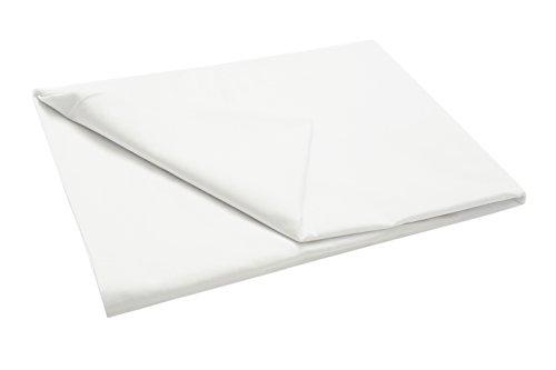 ZOLLNER Sábana Bajera de algodón Blanca, Cama 150, 240x290 cm, Otras Medidas