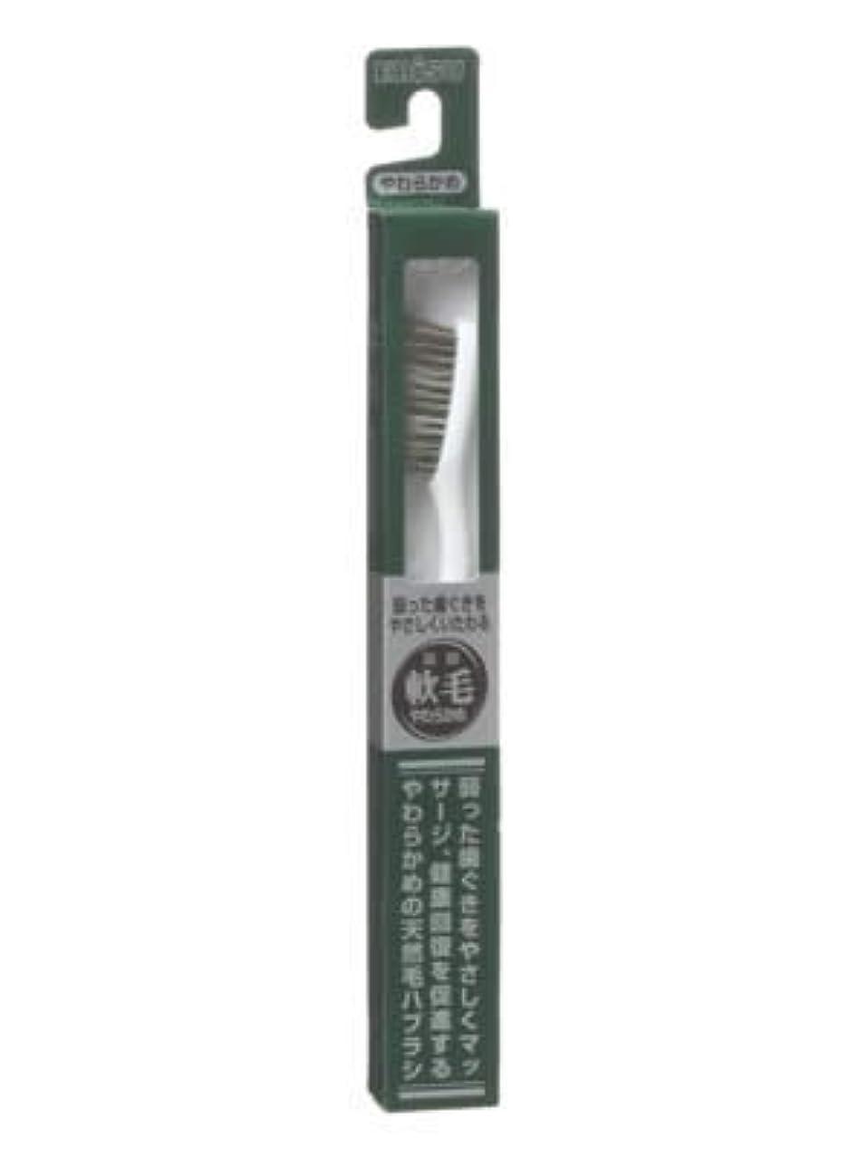 ストレスの多いプレミアム征服者エビス 天然毛軟毛歯ブラシ350 やわらかめ ×10個セット