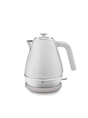 De'Longhi Wasserkocher Distinta Moments KBIN2001.W - 1,7 l Teekocher mit Wasserstandsanzeige, Abnehmbarer und abwaschbarer Anti-Kalkfilter, passend zu Nespresso Gran Lattissima (EN650.W), weiß