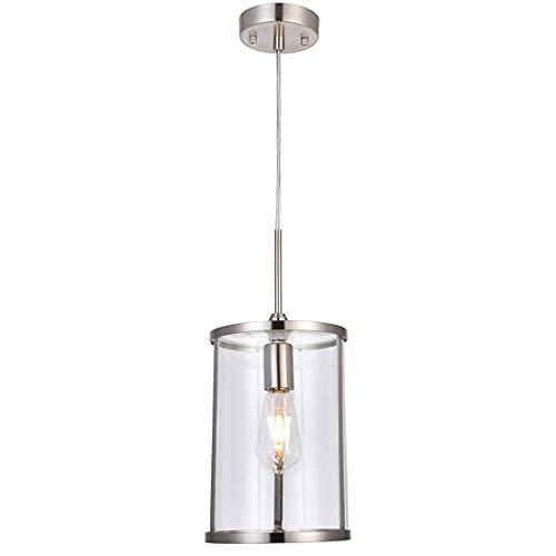 Industrial Lámparas Colgantes Vintage Rústica Iluminacion con Vidrio Sombra E27 Portalámparas Decoración Luz de Techo para Mesa de Comedor Cocina Porche Restaurante,A