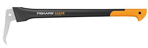 Fiskars Lange Hand-Sappie zur Holzbearbeitung, Länge: 78,5 cm, Gehärtete Stahlklinge/Glasfaserverstärkter Kunststoffgriff, Inklusive Schutzhülle, Schwarz/Orange, WoodXpert, XA22, 1003623