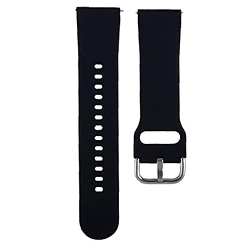 nJiaMe Reloj de la Correa de Reloj de Silicona de Repuesto Bandas compatibles con Smart Relojes ZL01 Deportes Repuesto Correa Accesorios Negro