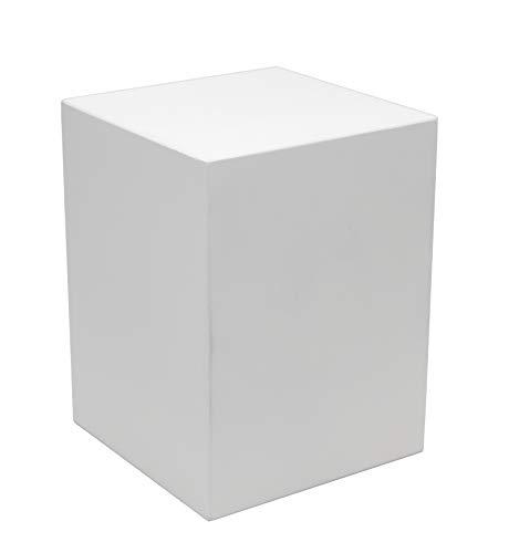 """Meister Sockel für Statuen + Figuren, Podest Größe """"M"""" = 15x15x20 cm weiß lackiert, Holzsockel, Holzsäule"""