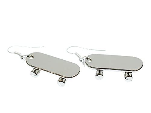 Miniblings Skateboard Ohrringe Board Skaten Skater Board silber - Handmade Modeschmuck I Ohrhänger Ohrschmuck versilbert
