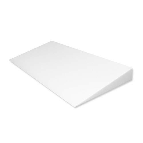 Fränkische Schlafmanufaktur Keilkissen Bettkeil Poly 9/1cm für Matratzen und Wasserbetten Breite 100cm