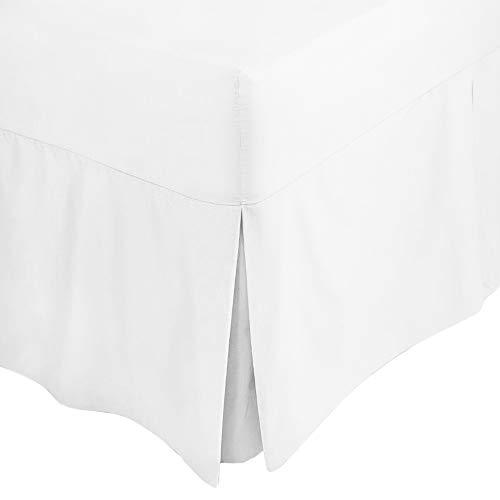 En coton noir Double Lit Chambre Percale plateforme base jupe extérieure Feuille 137 x 190 cm