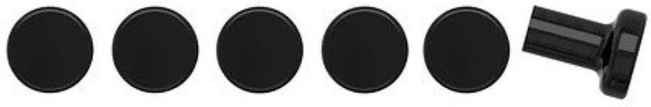 Sätta Knob, Assorted Colors - Ikea / 6 Pack (Black)