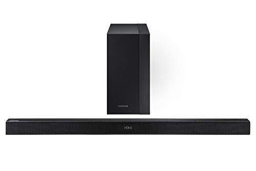 Samsung Barra de Sonido Sistema con 2.1 Canales, 300W de Potencia, Bocina Subwoofer Inalámbrica y Bluetooth HW-KM45 (Reacondicionado)
