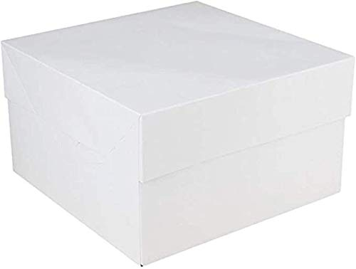FunCakes - 25 x Caja Blanca para Transportar Tartas (25X25X15CM)