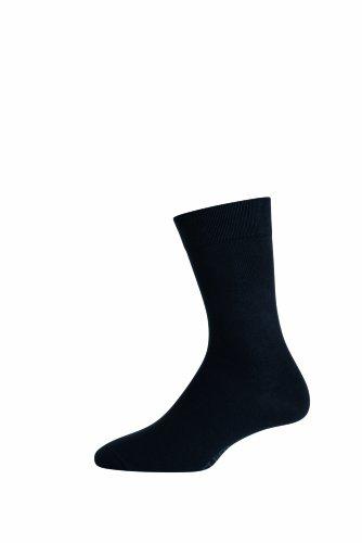 ELBEO Herren Das ideale Trio Baumwollsocken 3er Pack, 905597 Socken, Blickdicht, Schwarz (schwarz 5300), 43/46 (Herstellergröße: 43-46)