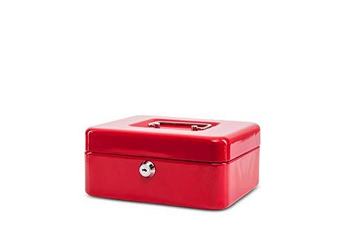 Maul Geldkassette 2, Rot, Herausnehmbarer Hartgeldeinsatz, 200 x 90 x 170 mm, 5610225, 1 Stück