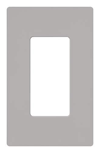 Lutron Claro 1 Gang Decorator Wallplate, CW-1-GR, Gray