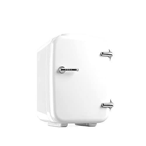 QPMY Refrigerador Pequeño, Doble Energía Fría Y Caliente, Ahorro De Energía Silencioso, Refrigerador De Automóvil, Enfriador De Almacenamiento De Alimentos Y Bebidas Pequeñas para Oficina,Blanco