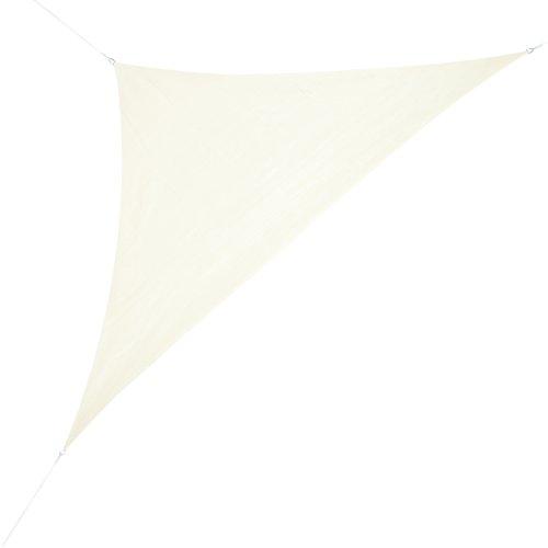 Corasol 160090 Premium Sonnensegel, 5 x 5 x 7 m, 90° Grad Dreieck, wasserabweisend, Creme-weiß