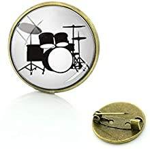 Kleid Zubehör Musikinstrument Pins Drums DJ Mixer Musiker Broschen Drum-Kit Glas Frauen Herren Badge Schmuck