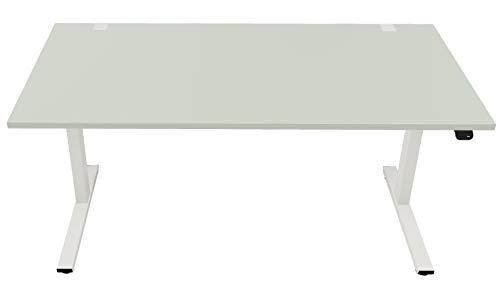 OKA Easy Up, ergonomischer Schreibtisch elektrisch höhenverstellbar, 160x80, Pistazie, mit Kabelmanagement, 5 Jahre Garantie