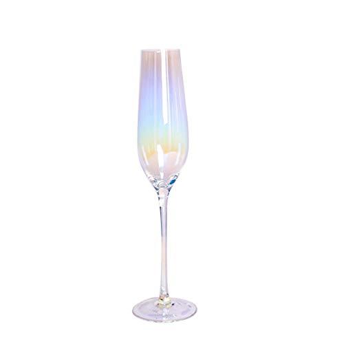 LLYAND Champagne Glass, Bunte Champagner Gläser Weingläser, Champagnergläser, Kristallweinglas, Champagner Flöten, Set Mit 2 Champagnergläsern