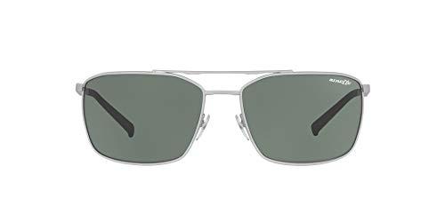 Arnette 0AN3080 Gafas de sol, Silver Rubber, 62 para Hombre