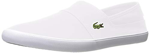Lacoste Men's Marice Slip On Sneaker Fashion, White, 12 M US