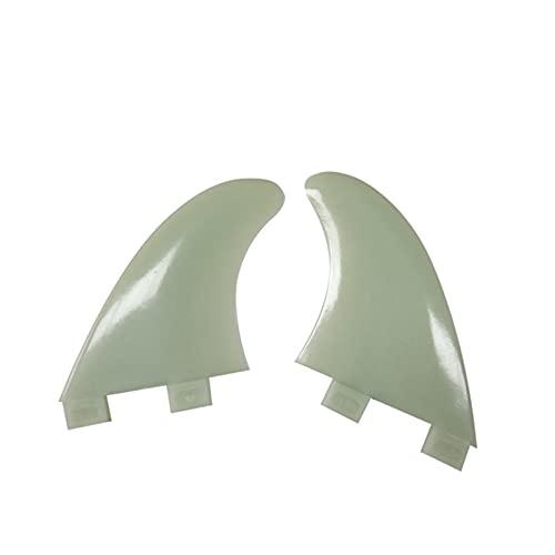 xldiannaojyb 2 unids Cola de Tabla de Surf timón de Techo de Plataforma de plástico Aletas de Paddle Stand-up tableros de Peces pequeños (Color : Grey, Size : GX)