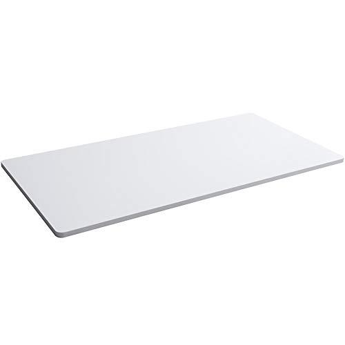 Balderia - Piano di lavoro per casa e ufficio, con elevata resistenza ai graffi, 160 x 80 cm, colore: Bianco