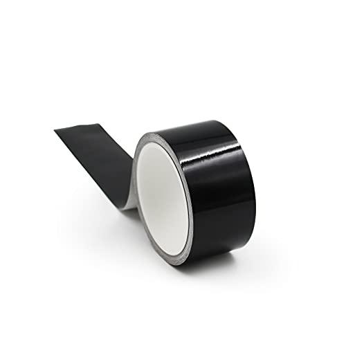 10m Zierleistenfolie Blackout Carwrapping Luftkanalfolie 970RA selbstklebend 50mm breit für Auto Motorrad Fenster Kühlergrill Kfz Chromleisten schwarz folieren (Schwarz Glanz)