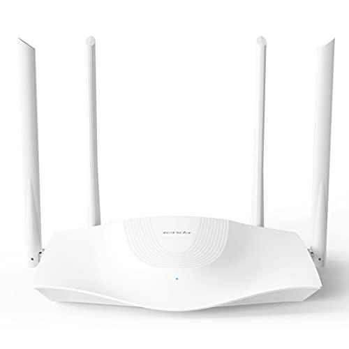 Tenda RX3 Router WiFi 6, AX1800 Dual Band, 1201 Mbps a 5GHz + 574 Mbps a 2.4GHz, Quad Core, 1 Puerto Gigabit WAN, 3…