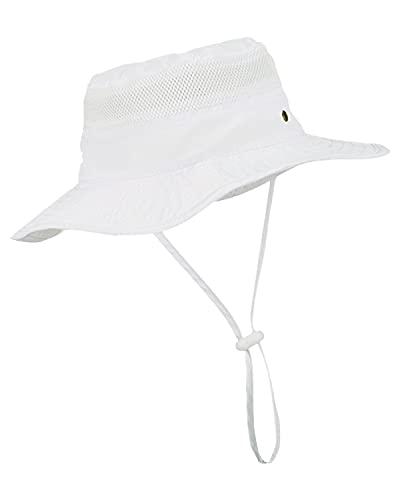 LIVACASA Sombrero del Pescador Niña Niño Ajustable Hat Plegable Gorra para Senderismo...