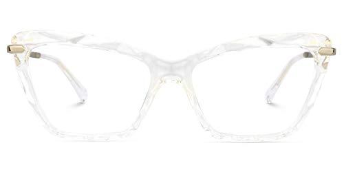 Zeelool Cat Eye Glasses Frame Non-prescription Clear Lens Juliet VFP0270-04 Crystal