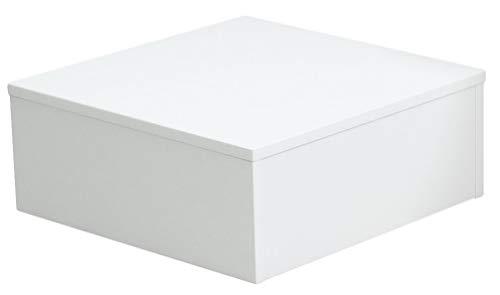 Ladeneinrichtung Warenträger Sockel Podest weiß (L: 45cm, H: 30cm, T: 45cm)