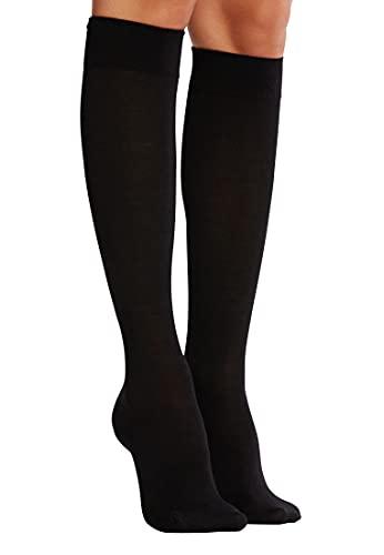 Wolford Damen Kniehohe Strümpfe & Overknees (LW) Merino Knee-Highs, 20 DEN,black,Large (L)