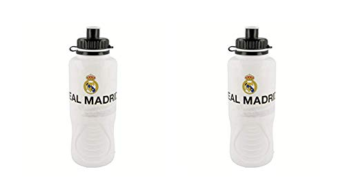 2553; Pak 2 flessen ergo Real Madrid; 400 ml capaciteit; plastic product; Geen BPA