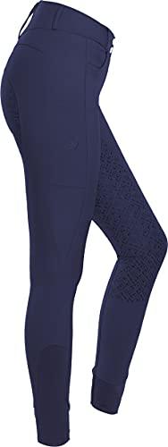 RIDERS CHOICE Pantaloni da Equitazione a Vita Alta da Donna con Rinforzo Completo in Silicone e...