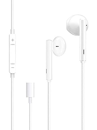 HCX Auriculares Cascos para iPhone,In Ear Resistentes al Sudor,Cascos con Cancelación de Ruido,Auriculares con Micrófono y Control de Volumen Compatible Cascos de iPhone 7/8 /Plus/11/12/Pro/XR/X/XS/XS