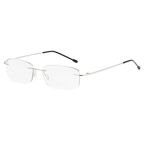 Gafas De Lectura Con Montura De Aleación Ultraligera A La Moda Para Hombres Y Mujeres Gafas Ópticas Sin Montura De Acero Inoxidable Con Dioptrías +1,00 A +3,00