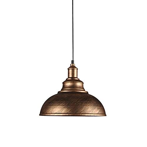 LLLKKK Lámpara de techo de hierro forjado vintage, lámpara de techo de tungsteno, lámpara de araña, forma de cúpula/cuenco, lámpara de araña, lámpara de cobre, bombilla Edison E27 (color: bronce)