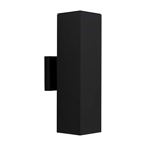 Luminance F6892-31 Contemporary 2 Incandescent Light Square Exterior in Black Finish