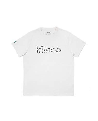 Kimoa Streaky Eco Alga Camiseta, Unisex, Blanco, S