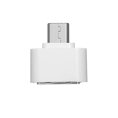 Montloxs Adaptador Micro USB Macho a USB Hembra Convertidor Micro USB a USB-A Adaptador Micro USB a USB 2.0 OTG Amplia Compatibilidad, Blanco