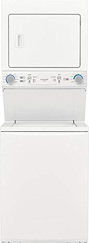 Frigidaire FLCE7522AW 27 Inch Electric Laundry Center with 3.9 Cu. Ft. Washer Capacity, 10 Wash Cycles, 5.6 cu. ft. Dryer Capacity, 10 Dry Cycles, in White