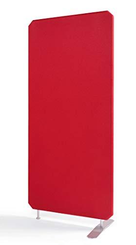Oktagon Akustik Stellwand - System, Schallschutz - Trennwand, Akustikwand schallabsorbierend, geprüft nach DIN EN ISO 354, Paneel - Größe: 1600 H x 1000 B x 50 D (mm), Farbe: rot